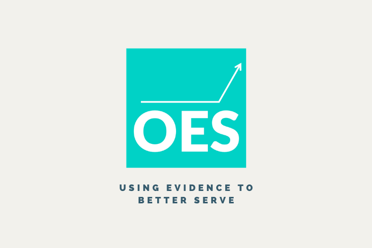 Office of Evaluation Sciences Logo including a tagline